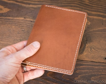 Hobonichi Techo (A6 size) planner cover, Horween leather - dark tan