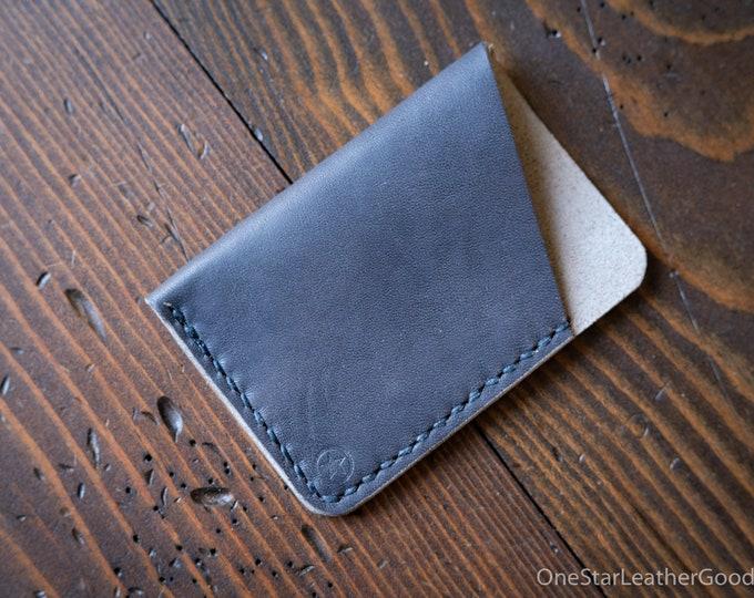 The Minimalist: micro card wallet - denim