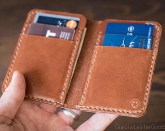 6 Pocket Vertical Wallet - chestnut harness leather