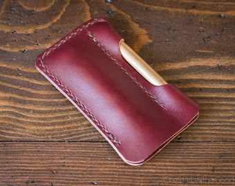 EDC-1, every day carry pocket knife and pen case, small size, for FisherSpacePen or Kaweco Liliput - burgundy