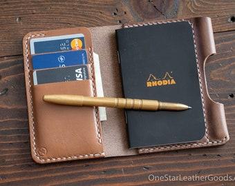 "Notebook/wallet/pen, ""Park Sloper Medium"" - Horween Chromexcel natural"