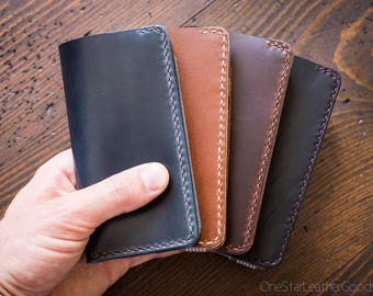 "BUILD-YOUR-OWN - iPhone 6, 7 & 8 (4.7"") cell phone wallet case in Horween leather"
