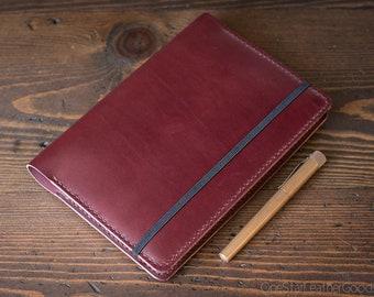 Leuchtturm 1917 Medium (A5) Hardcover Notebook cover - burgundy bridle leather