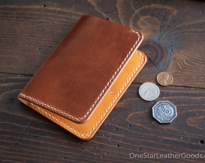 5 Pocket Slim wallet, Horween Dublin leather - chestnut / tan bridle