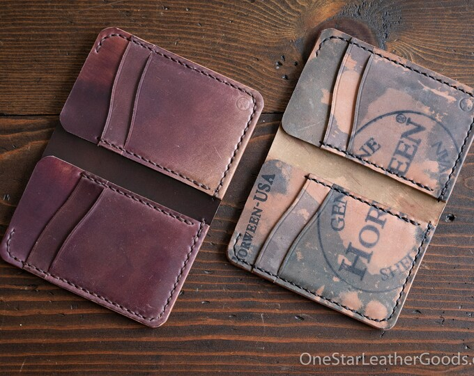 6 Pocket Vertical wallet - Horween shell cordovan