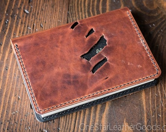 Hobonichi Techo (A6 size) planner cover, Horween leather - one-off w/holes