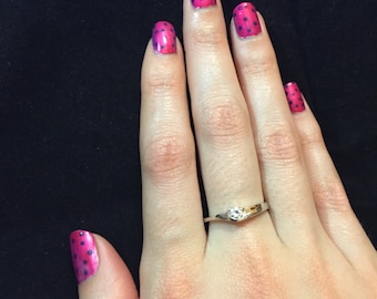 Fine 925 Sterling Silver  Stackable CZ Ring