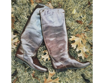 f5b4c680fe 1980s Brown Leather Riding Boots by Charles David for Neiman Marcus