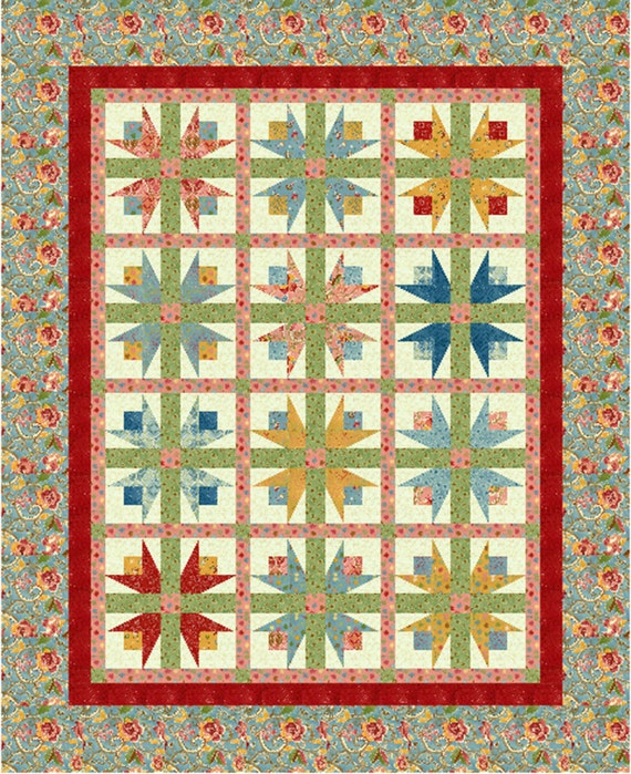 Twirling Tulips Quilt Pattern Etsy