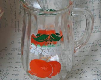 Vintage Mid Century 1950s Orange Juice Pitcher by Bartlett Collins