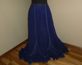 Rock Cordrock Pure blue skirt cobalt blue skirt corduroy women electric Blue
