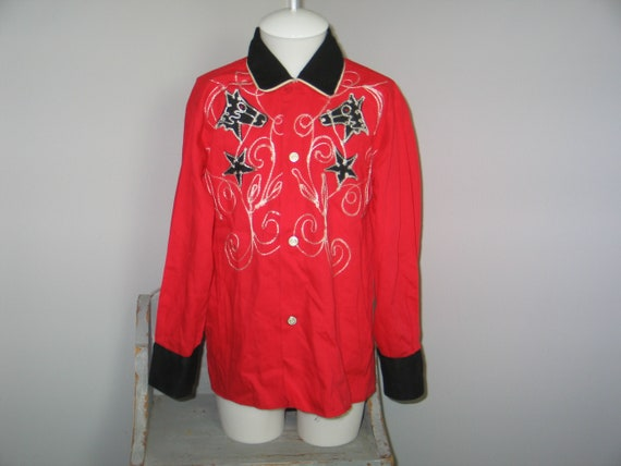 Vintage Western Wear Cowboy Shirt J BARR Childrens