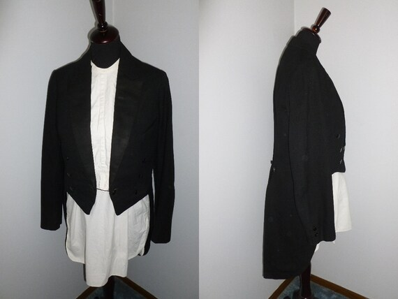 1930s 1940s Antique Tuxedo Tailcoat Tails Suit For