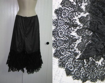 Antique Vintage HTF-Victorian Pantaloons-Bloomers-Knickers Lace~3 layers of French Chantilly Lace-Mourning-Formal-Costume-Photo-Stage-Prop