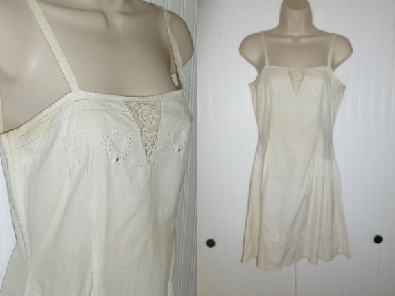 Antique Victorian Lingerie Chemise Edwardian Night