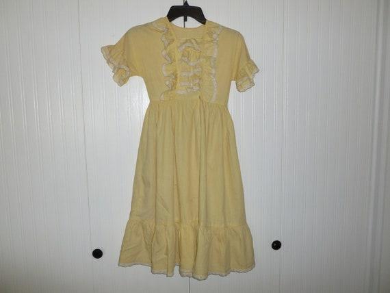 Sweet Antique Homespun Dress Vintage 1930s-1940s F
