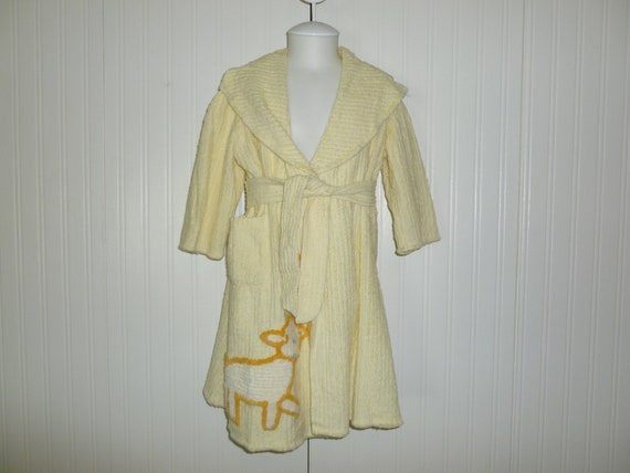 Charming Vintage Childs Chenille Bathrobe-1940s 19