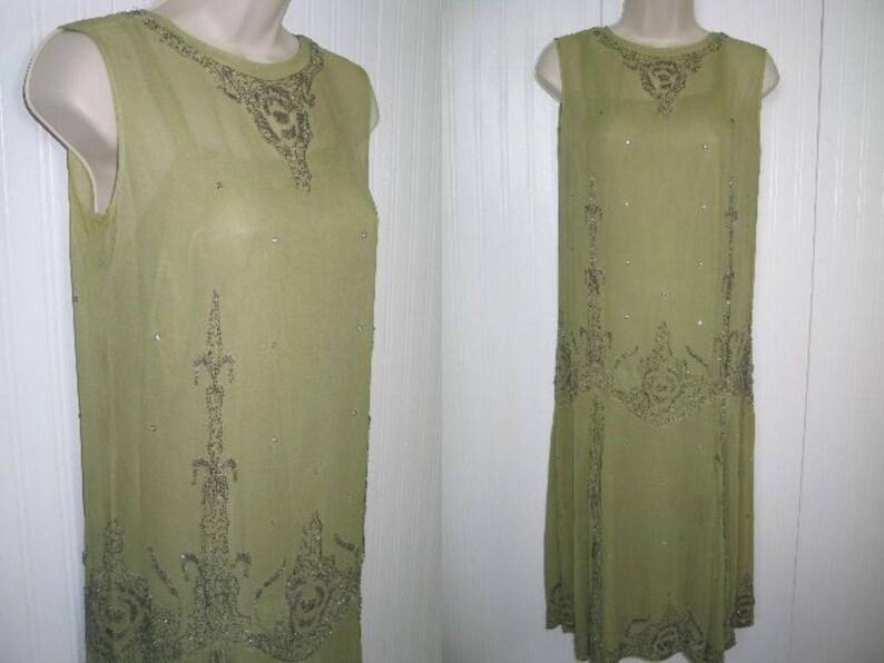 44465cd41f7e3 Antique 1920s Flapper Dress-Circa 1923-French Flapper | Etsy