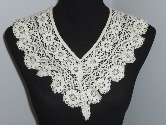 Handmade bobbin lace cotton camisole