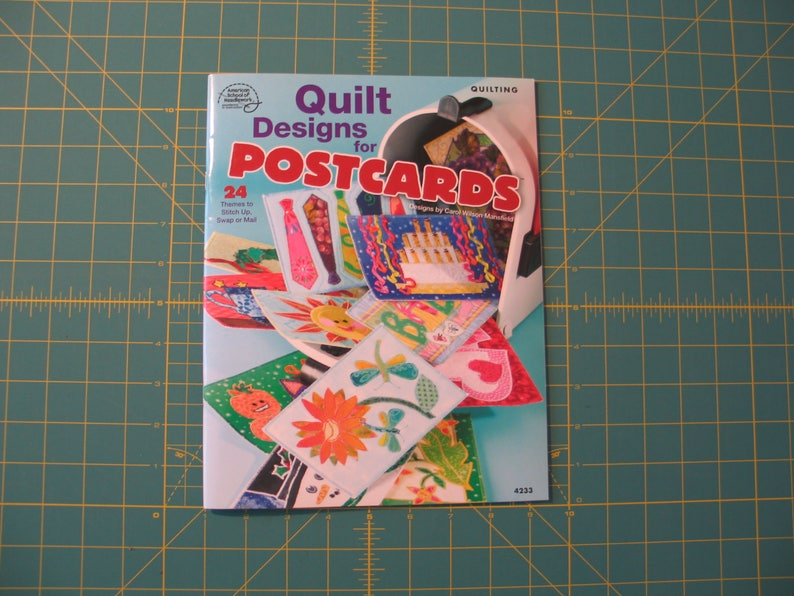 Quilt designs for postcards quilting applique pattern book etsy