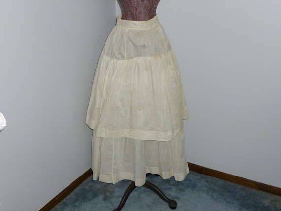 Antique Victorian Edwardian Layered Skirt c1900s W
