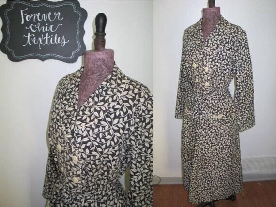Antique Vintage Dress / Circa 1930s 1940s Fancy Ch