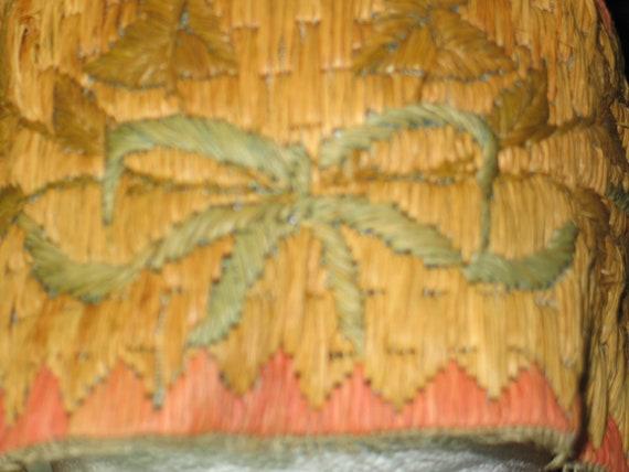 RARE- 1920s bathing cap-woven straw-Flapper Swim … - image 5