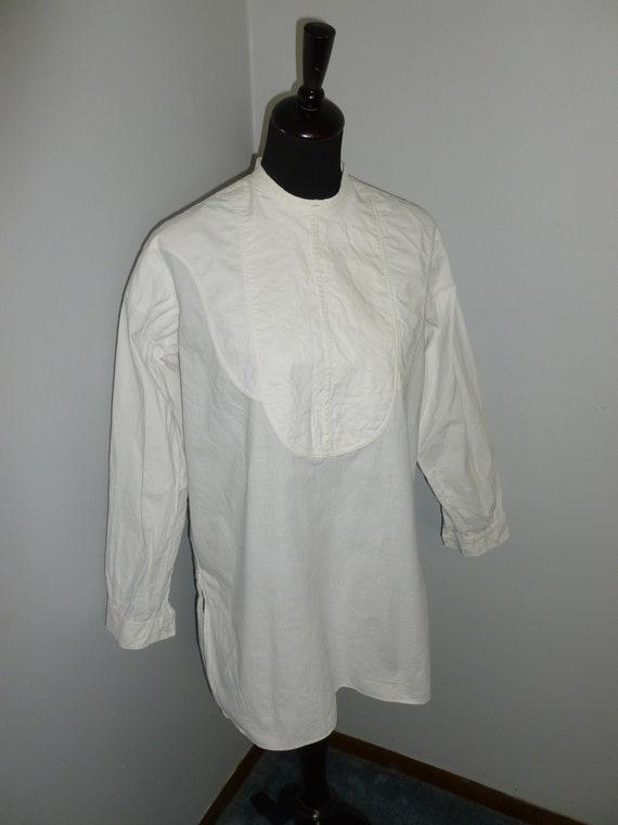 Antique Victorian Shirt-Vintage Edwardian Men's Tu