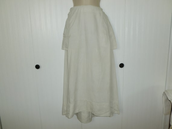 Antique Edwardian LINEN Skirt c1900s Walking Skirt