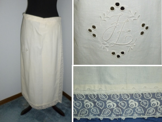 Antique Edwardian Wrap Skirt c1900s Walking Skirt