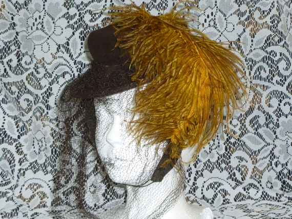 Antique Hat / Victorian 1900s Summer Bonnet Hat /
