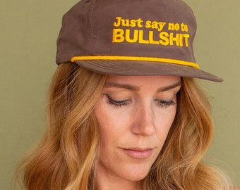 Just say no to Bullshit Embroidered Hat Vintage Style Trucker Hat