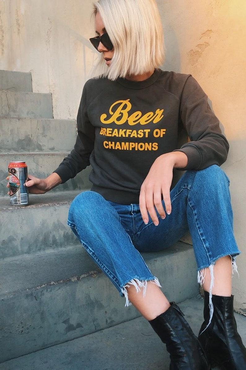 a726f8938 Beer Breakfast of Champions Sweatshirt womens vintage | Etsy
