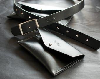Phone bag size small travel bag belt bag leather belt pouch leather belt bag festival bag leather hip purse belt pouch