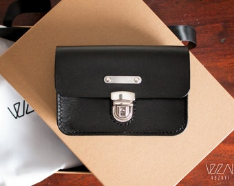 Handmade hip bag leather fanny bag small travel bag belt bag leather belt pouch leather belt bag festival bag leather hip purse belt pouch