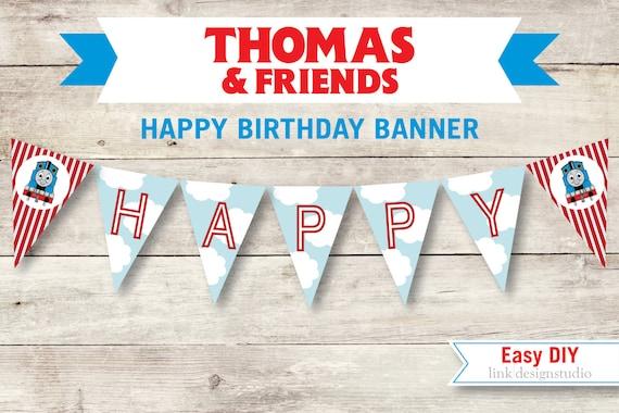 Items Similar To Thomas The Tank Engine Birthday Banner Diy