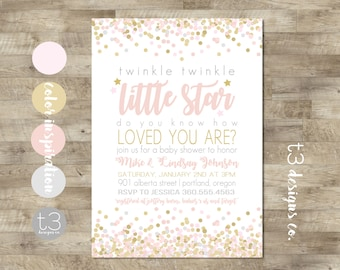 LITTLE FOX CHRISTENING Invitations Cute pink WOODLAND DESIGN Pack of 8