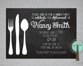 retirement party invitation dinner party retirement party etsy