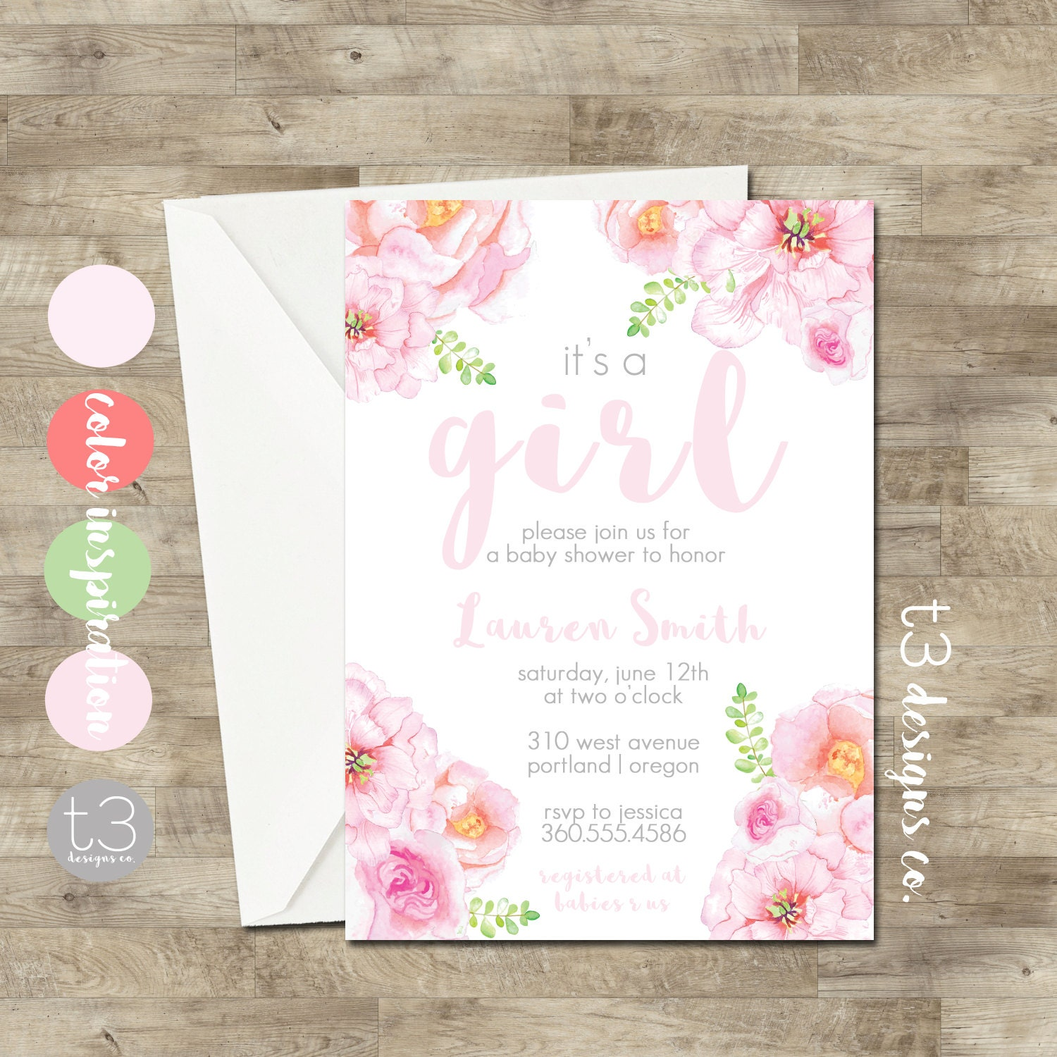 Garden party baby shower girl baby shower invitation spring baby garden party baby shower girl baby shower invitation spring baby shower garden baby shower watercolor flower baby shower spring shower filmwisefo