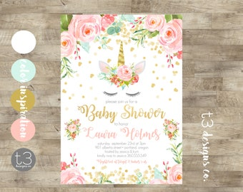 Baby shower invitation girl etsy filmwisefo