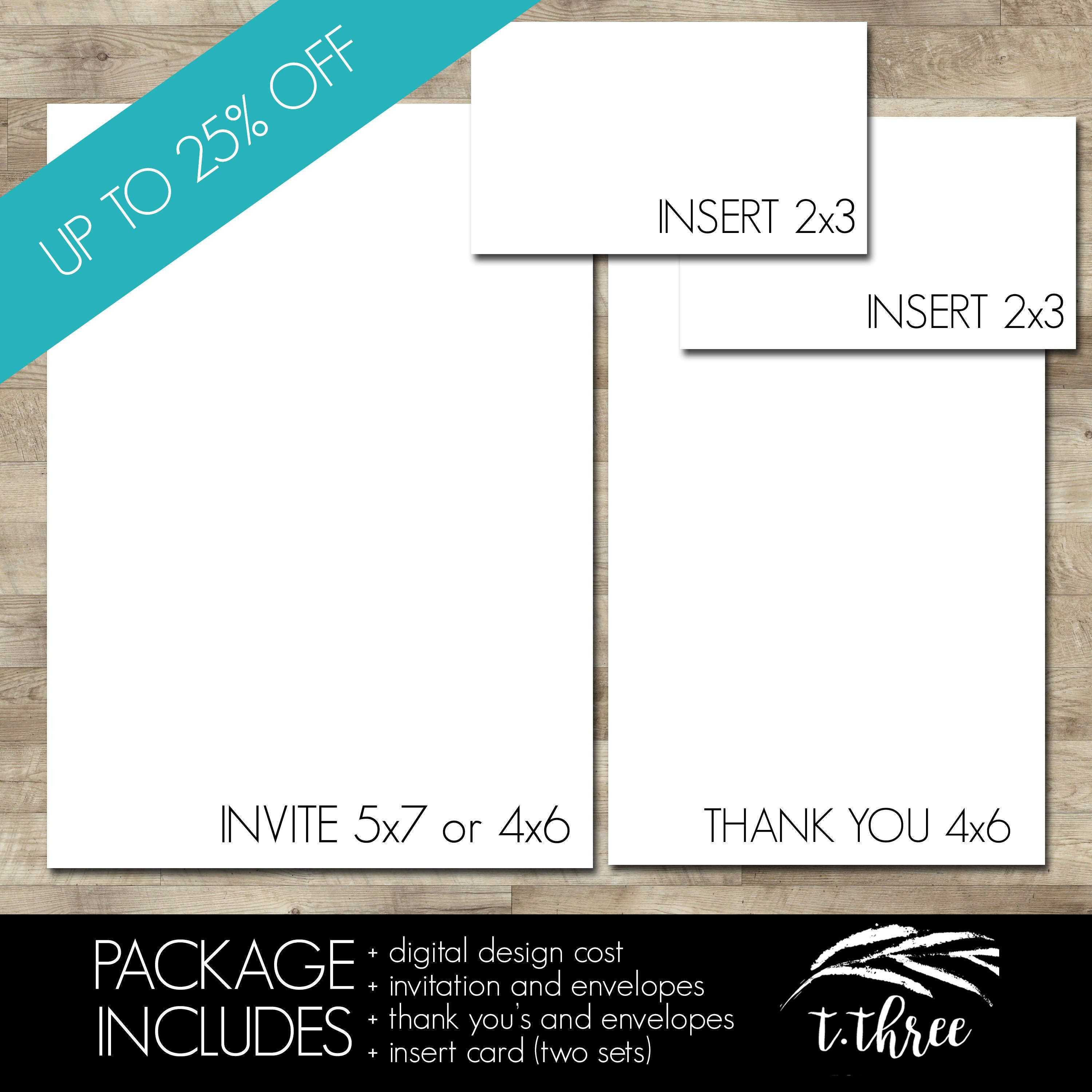 Professionally Printed Invitations Thank You Cards And Two Sets Of
