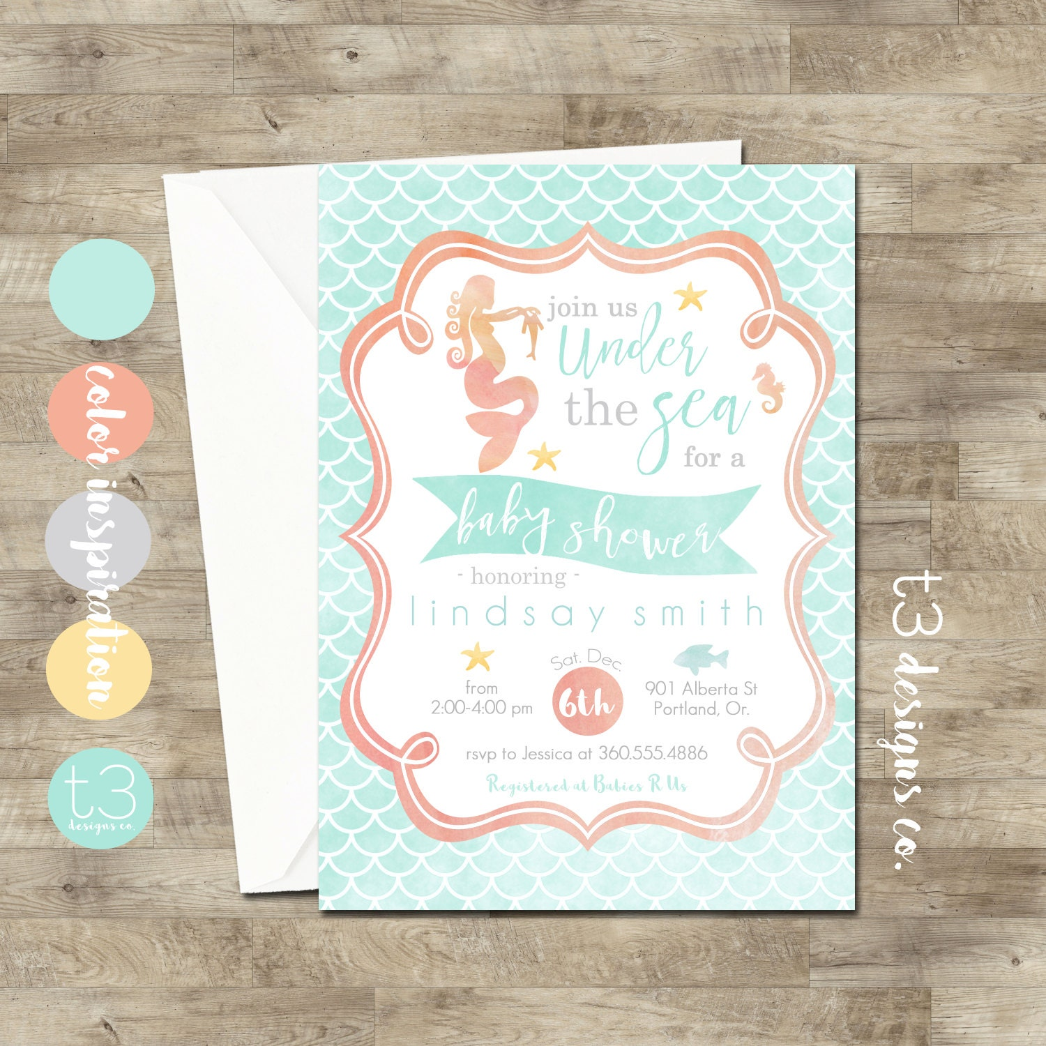 Mermaid baby shower invitations mermaid invitation baby shower mermaid baby shower invitations mermaid invitation baby shower invitation diy printable ocean baby shower mermaid watercolor filmwisefo