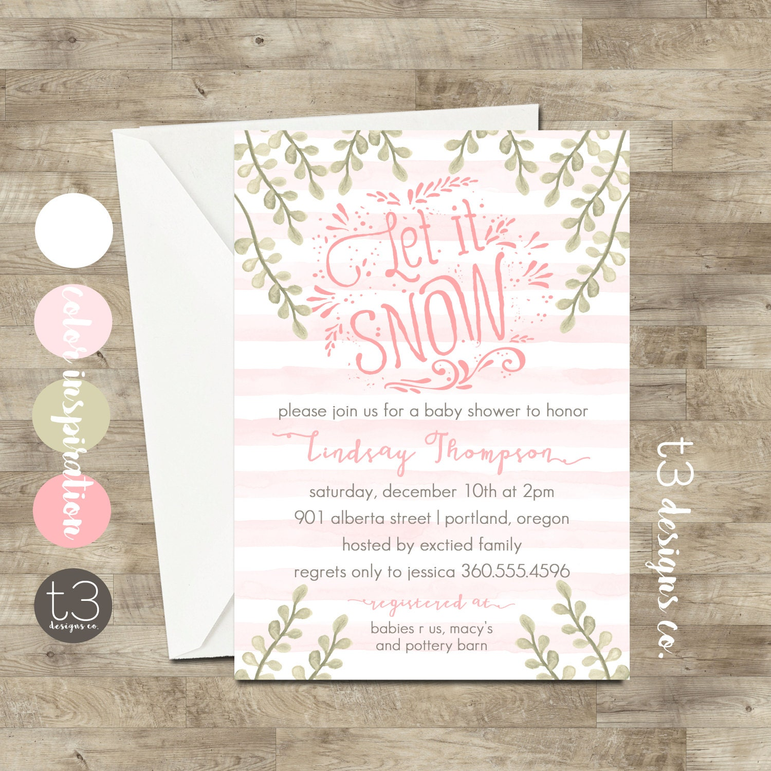 girl winter wonderland invitation winter baby shower invitation