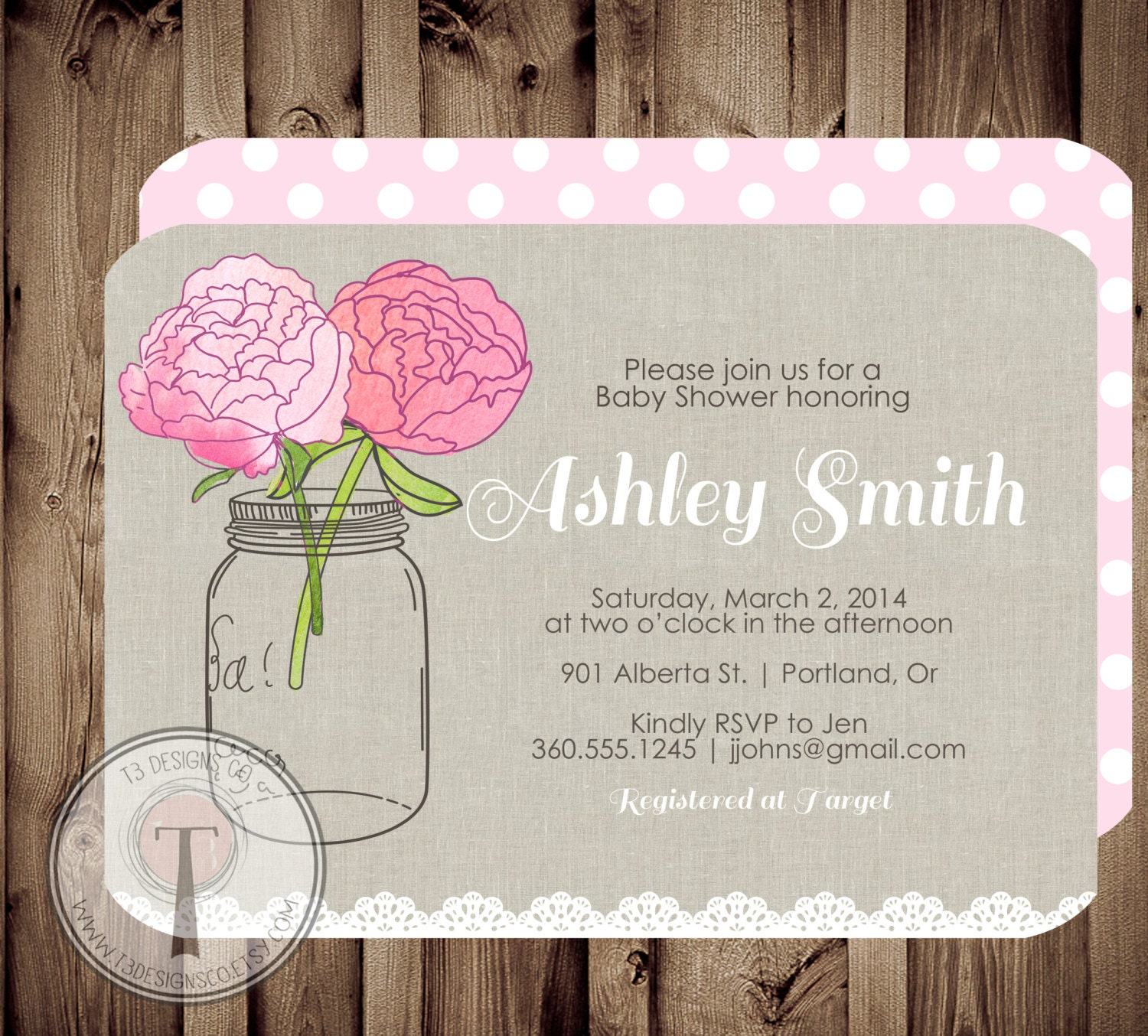 rustic bridal shower invitation bridal shower invitation wedding shower mason jars invite rustic country bridal shower lace