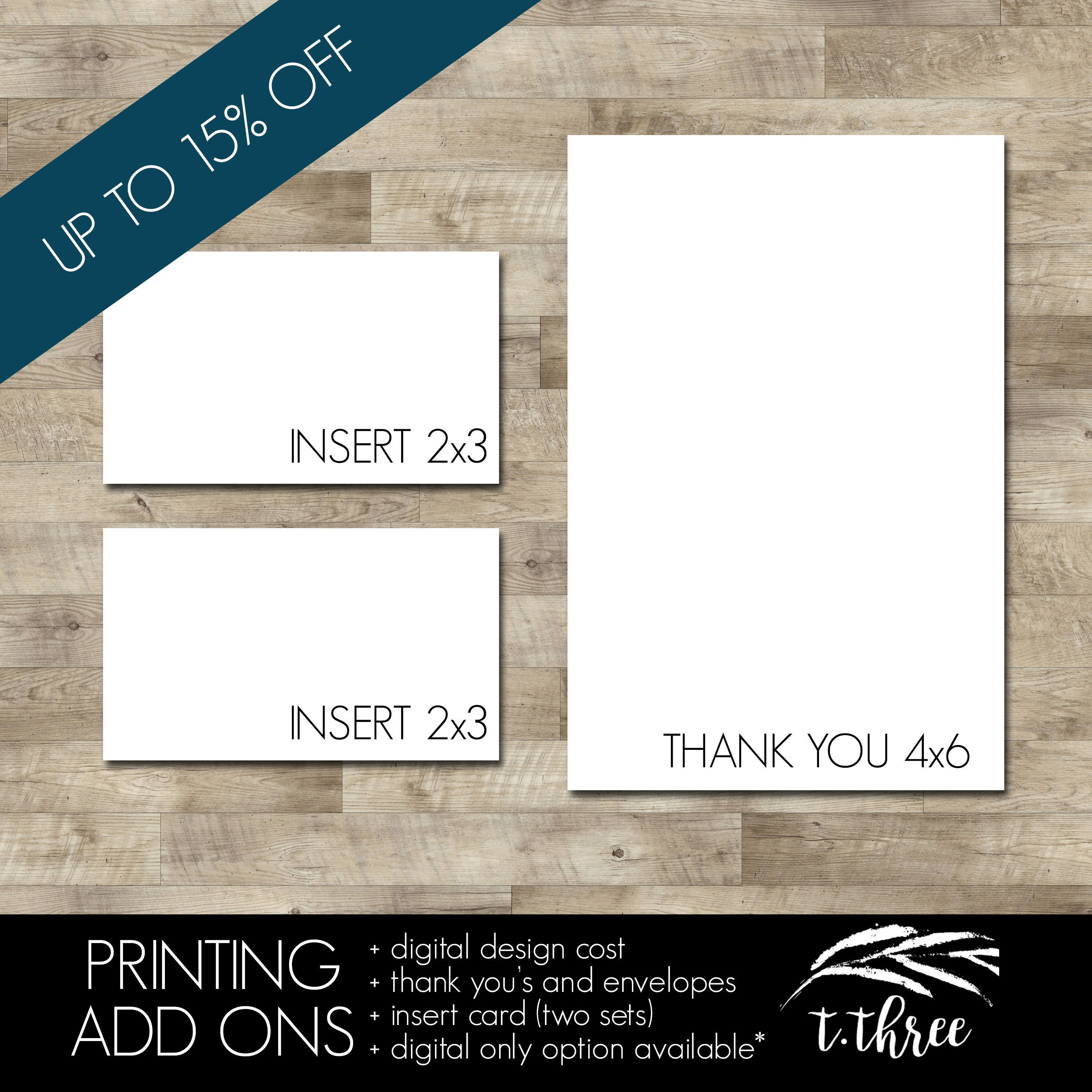 Professionally Printed Thank You Cards With Envelopes And Two Sets