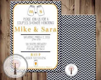 Couples Shower Mason Jar Invitation, Bridal Shower Invitation, Wedding Shower, Mason Jars, Chalkboard, invite, Invitation Bride and Groom