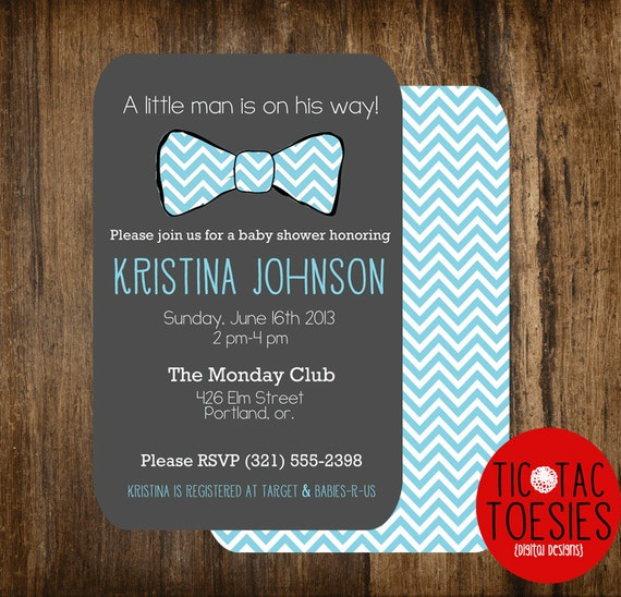 Little Man Baby Shower Invitation Bow Tie Baby Shower Bow Etsy