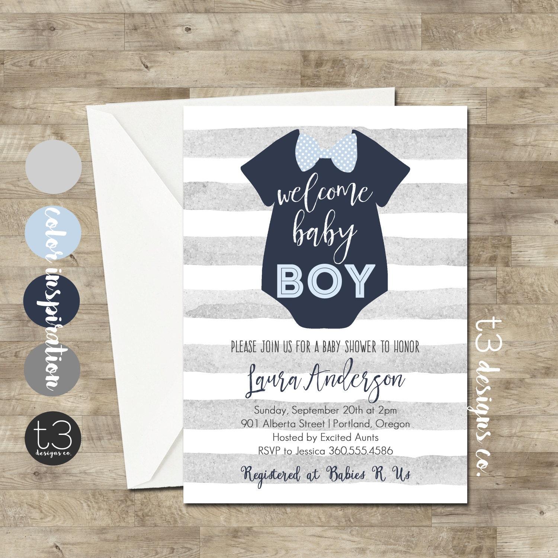 Boy Baby Shower Invitation, Bow Tie Baby Shower, Bow Tie, Little Man ...
