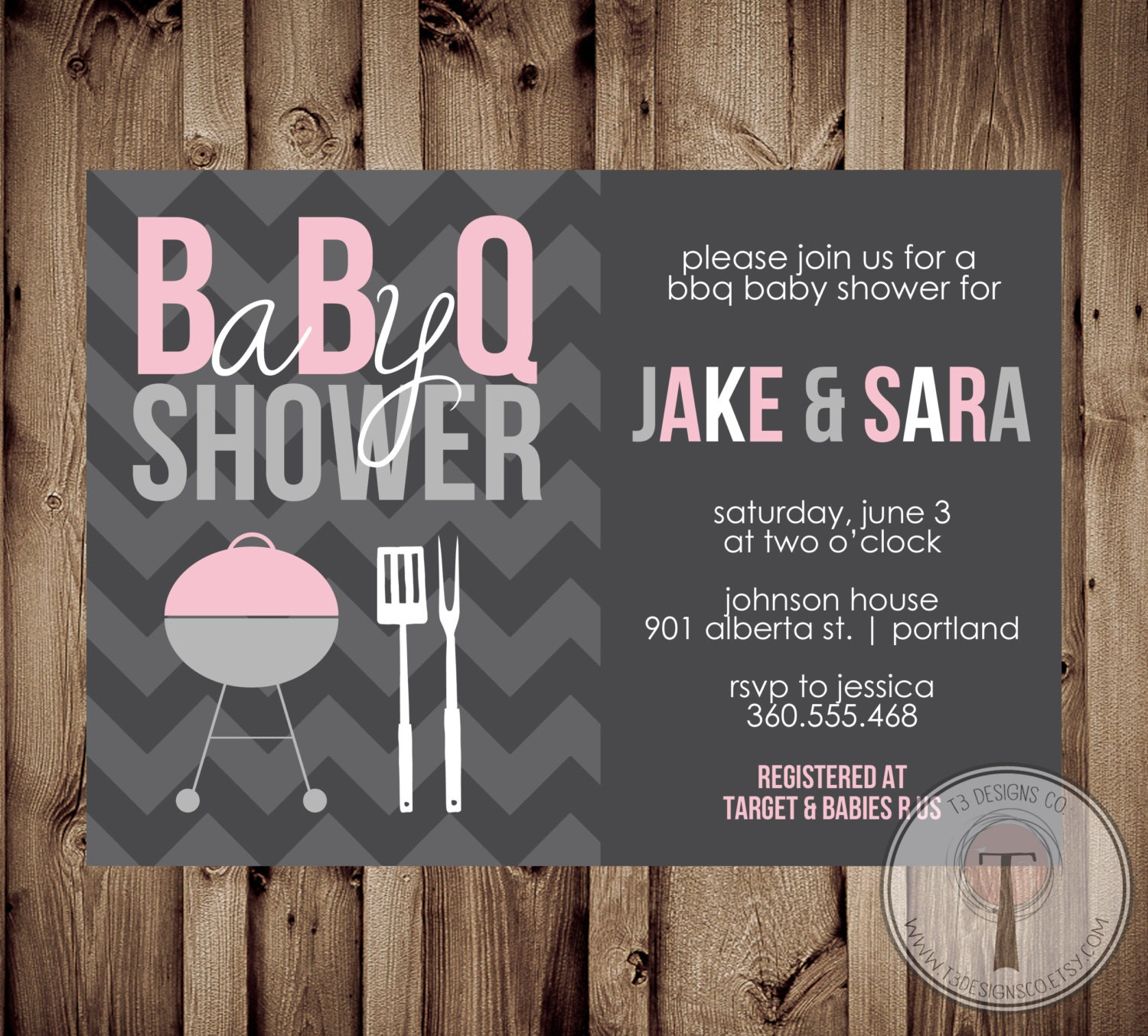 Baby Shower BBQ, BBQ Baby Shower Invitation, bbq shower, barbecue ...