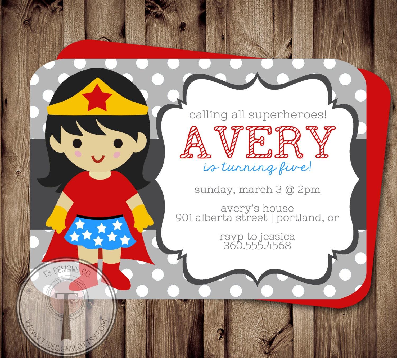 superhero girl birthday invitation birthday invitation super hero